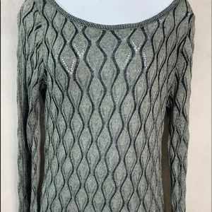Maurice's Drop Cinch Waist Gray Sweater